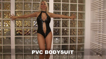 Dani Thompson Pvc Bodysuit Video
