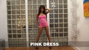 Gemma Hiles Pink Dress Video