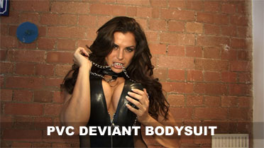 Louise Glover Pvc Deviant Bodysuit Video